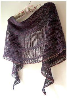 Ravelry: Interlude shawl with Madelinetosh Tosh Merino Light - knitting pattern by Janina Kallio.