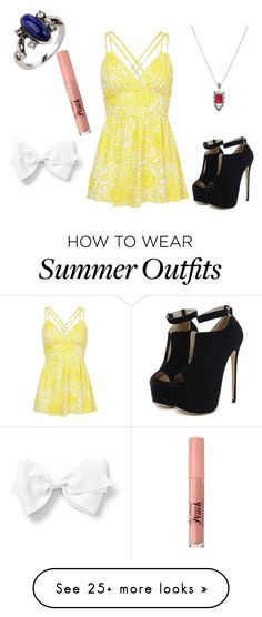 """Summer outfit 76"" by adelineojeda on Polyvore featuring CO, Hot Topic, WithChic and Too Faced Cosmetics"