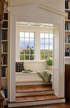 Create a space you love to retreat to   #reading #nook