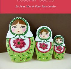 My tutorial for Russian doll Christmas cookies are in the current issue of Australian Cake Decorating Network's magazine! (My apologies to my followers who are actually from Mother Russia... I know nothing whatsoever about nesting dolls or how they should look! So sorry for any cultural misappropriation!) Cake! magazine is out now! Our 'Celebrate' Christmas issue features interviews, tutorials and inspirational images from decorators around the world and is sure to get you in to the…