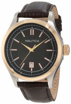 Nautica Men's N13611G BFD 104 Date Classic Analog Watch: Watches: Amazon.com