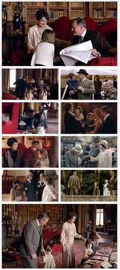"""Downton Abbey Season 6 ..Robert and Cora Crawley - Moments as Grandparents """"You must make do with Granny and Donk"""" .."""
