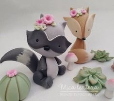 Fondant Animals, Clay Animals, Fimo Clay, Polymer Clay Crafts, Baby Box, Fondant Toppers, Woodland Baby, Boho Baby, Air Dry Clay