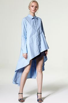 Rachael Unbalance Flare Shirt Discover the latest fashion trends online at storets.com