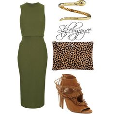 Leopard v Khaki by styledbyjmini on Polyvore featuring polyvore, fashion, style, Topshop, Aquazzura, Clare V. and Roberto Coin