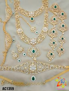 7286062150 ping me for orders Gold Jewelry Simple, Stylish Jewelry, Jewelry Accessories, Jewelry Design, Fashion Jewelry, Indian Bridal Jewelry Sets, Wedding Jewelry Sets, Diamond Necklaces, Diamond Jewellery