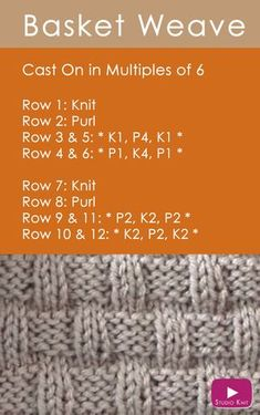 How to Knit the Basket Weave Stitch Pattern with Knitting Pattern + Video Tutorial by Studio Knit via @StudioKnit