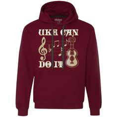 Uke Can Do It Ukulele Heavyweight Pullover Fleece Sweatshirt