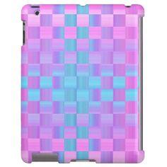 Pretty Pastel Colors Mosaic Tile Pattern iPad Case