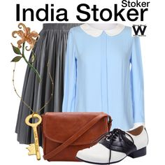 Inspired by Mia Wasikowska as India Stoker in 2013's Stoker.