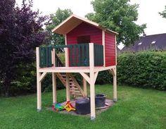 Unser neuer Spielturm mit Sandkiste und richtiger Treppe
