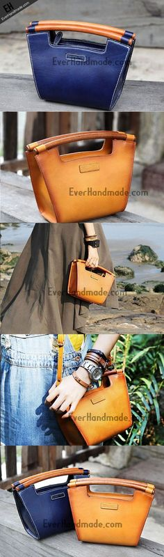 Handmade handbag purse leather crossbody bag purse shoulder bag