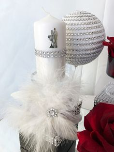 Romantic style..#Hochzeit #Hochzeitskerze #wedding # www.traumkarten-mk.de