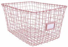 Kidsdepot Wire Metalen Draad Mand Roze ♥ Bestel Snel ♥ - De Kleine Generatie