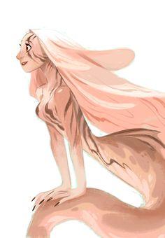 Twitter / MingjueChen: Lionfish mermaid for ...