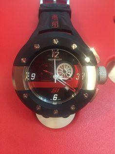 60e4e3e1d Reef Tiger Aurora Rally S1 Chrono Black Dashboard Dial Black Rubber Men's  Quartz Watch With 52mm