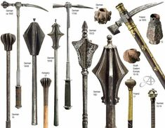 War hammer mace medieval maces  german poland and hungary head of all time  Medieval and renaissance