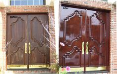 Front Door Makeover Work performed by: Furniture Medic by Restoration Specialists in Westbury, NY