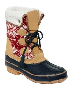 Khombu Shoes, Aztec Faux-Fur Boots Women's Shoes in November Women's Cold Weather Book  from Macy's