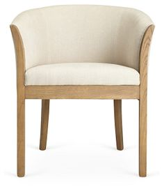 Prince Armchair, Cream/Natural | Liven Up Your Living Room | One Kings Lane