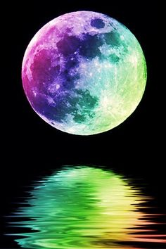 Rainbow-hued moon :)