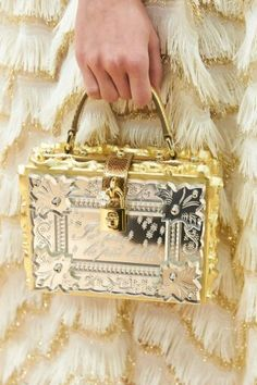 dolcegabbana F/W16/17 #DGFabulousFantasy Women's Fashion Show. Prestigious Bag with Padlock and Precious Materials. More insights on @dolcegabbana and dgfw17. Also follow @voguerunway and #MFW.