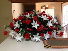 Flowers I did for my grandparents gravestone.