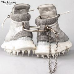 #TheLibrary1994 #CCP #Handmade #drip #rubber sole #sneaker by Carol Christian Poell. #theseshoesweremadeforwalking #Kensington #London #unique #artisanal #fashion #style Getting Old, Wearable Art, Leather Boots, Artisan, Kensington London, Christian, Sneaker, Fashion Design, Unique