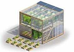 Flatpack hydroponic garden delivers 538-square-feet of fresh food to cities