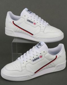 best website 52f8a 7094b Pinterest - Branmakeyou Follow me for more pins of Adidas Continental 80  White Sneaker Shoes