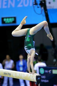 Female artistic gymnastics on the balance beam, resolution: 4028 x 6042 Gymnastics Pictures, Sport Gymnastics, Artistic Gymnastics, Olympic Gymnastics, Gymnastics Leotards, Sporty Girls, Gym Girls, Foto Sport, Sport Sport