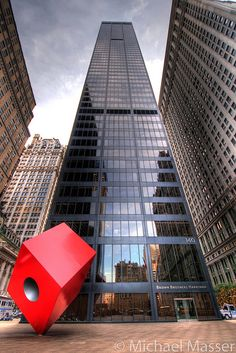 The Red Cube, 140 Broadway, Financial District, Lower Manhattan, NYC
