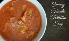 Vegan Tomato Soup Recipe | Dairy-Free + Delicious | Chasing Vibrance Homemade Tomato Basil Soup, Vegan Tomato Soup, Tomato Tortellini Soup, Canned Tomato Soup, Tomato Soup Recipes, Healthy Soup Recipes, Fall Recipes, Real Food Recipes, Curried Butternut Squash Soup