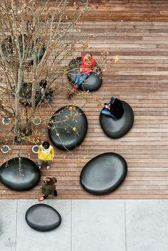 Like this kind of seating, It's very organic and natural…