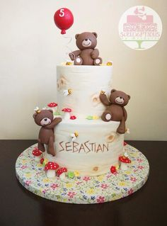 Bear bears cake woodland