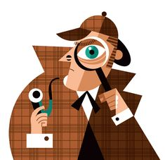 Character Illustrations: Pablo Lobato is a Buenos Aires, Argentina based Illustrator/Graphic Designer. Pablo Lobato was born in Pablo spent long Art Et Illustration, Pattern Illustration, Character Illustration, Graphic Design Illustration, Graphic Art, Sherlock Holmes, Pablo Picasso, Pop Art, Detective Conan Wallpapers