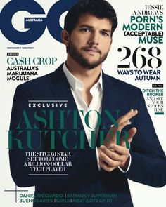 Ashton Kutcher - GQ Magazine Cover [Australia] (March 2016)
