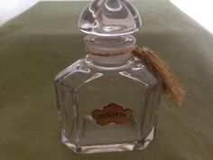 Vintage Guerlain Shalimar Baccarat Perfume Bottle & Stopper 3 OZ - WW II 1940s
