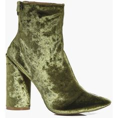 Boohoo Robyn Cylinder Velvet Sock Boot (345 ZAR) ❤ liked on Polyvore featuring shoes, boots, floral shoes, high heel shoes, special occasion shoes, velvet boots and velvet shoes
