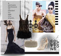 """Trendy cookie: Oscar de la Renta in black"" by andreayhitomi on Polyvore"
