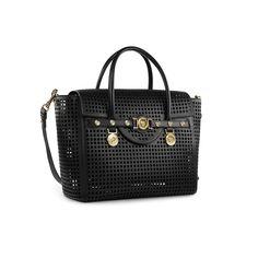 Substantial cut - #Versace leather shoulder bag. Find more #Versace Women's SS15 #VersaceSignatureBag here: versace.com