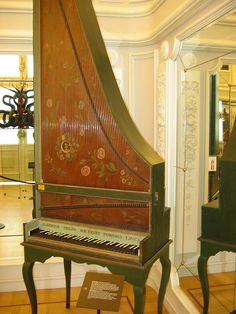 Clavicytherium / Upright Harpsichord. I just can't get enough of these loony things.