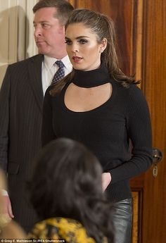 Cut out: Hope bared her décolletage in a black top while Trump met with Israeli Prime Minister Benjamin Netanyahu in Washington, D. on February 2017 Hilary Rhoda, Business Casual Outfits For Women, Festival Image, Conservative Fashion, Image Model, New President, Hollywood Life, Ladies Night, Ivanka Trump