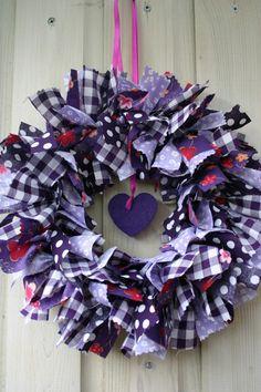 Purple wreath DIY