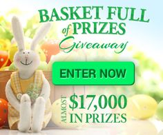 Make sure you enter the Basket Full of Prizes Giveaway with $17,000 in prizes