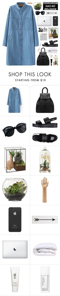 """SheIn 1"" by novalikarida ❤ liked on Polyvore featuring Jeffrey Campbell, Dot & Bo, Arteriors, Threshold, HAY, Incase, Rosanna, H2O+, NARS Cosmetics and TIGI"