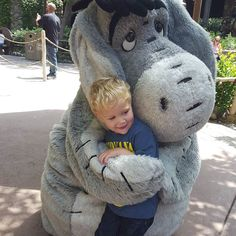 At my happy place with my favorite 2 year old! Loved seeing Disneyland through his eyes! Thanx @desidurang for coming with me and bringing this incredible kid! #eeyore #disneyland by bethanyspurlock