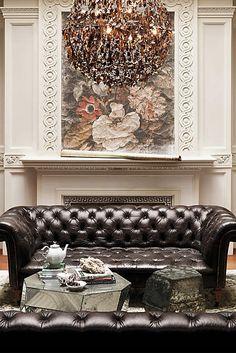 Leather Olivette Sofa - anthropologie.com