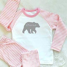 PJ Set Any Custom Name Age 0 to 4 Years Personalised Girls Unicorn Pyjama Set
