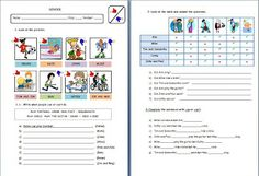 modal verb can exercises for kids
